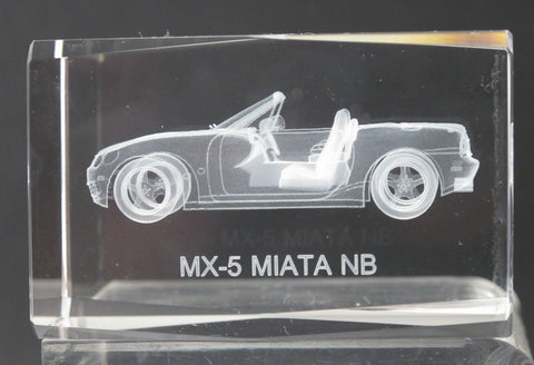 MX-5 MIATA NB glass paperweight, Great gift - O'Rourke crystal awards & gifts abp cut glass