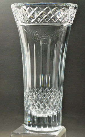 Hand cut crystal vase ideal for awards Custom - O'Rourke crystal awards & gifts abp cut glass