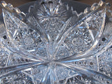American Brilliant Period hand Cut Glass oblong dish - O'Rourke crystal awards & gifts abp cut glass