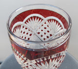 Ruby to clear cut glass chalice - O'Rourke crystal awards & gifts abp cut glass