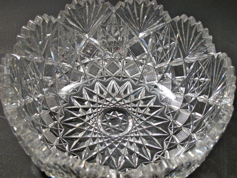 Cut glass ABP bowl blown blank Antique - O'Rourke crystal awards & gifts abp cut glass