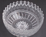 "Unique American Brilliant Period Cut Glass ABP Antique 8"" bowl - O'Rourke crystal awards & gifts abp cut glass"