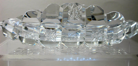 Hand Cut glass lay down spooner Antique ABP - O'Rourke crystal awards & gifts abp cut glass