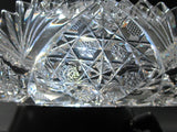 ABP American Brilliant Period Cut Glass crimped tray Antique - O'Rourke crystal awards & gifts abp cut glass