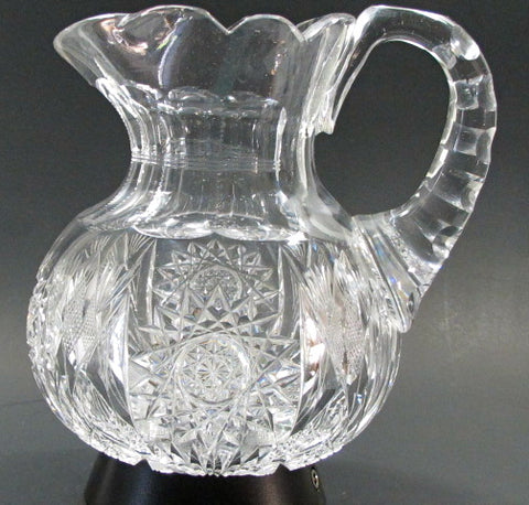 Pitcher American Brilliant Period Cut Glass Antique
