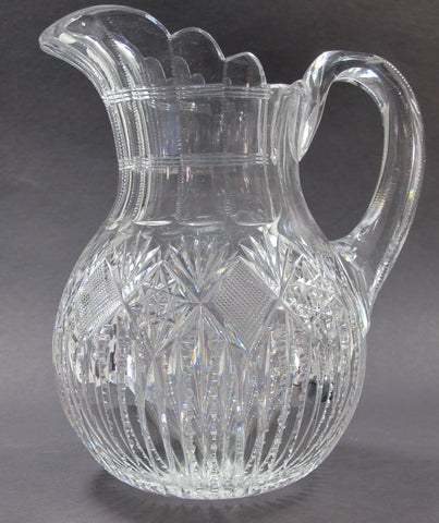 ABP Pitcher American Brilliant Period Cut Glass Antique - O'Rourke crystal awards & gifts abp cut glass