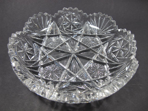 ABP cut glass low bowl American brilliant - O'Rourke crystal awards & gifts abp cut glass