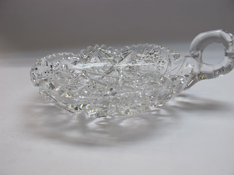 "American Brilliant Period 6"" Nappy cut glass Antique auction - O'Rourke crystal awards & gifts abp cut glass"