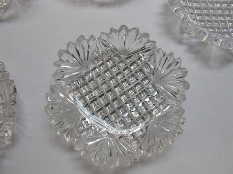 ABP 10 Butter Patties cut in Strawberry Diamond pattern - O'Rourke crystal awards & gifts abp cut glass