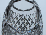 Hand Cut 24% lead crystal  large vase with space for etching 9.25 lb Award - O'Rourke crystal awards & gifts abp cut glass