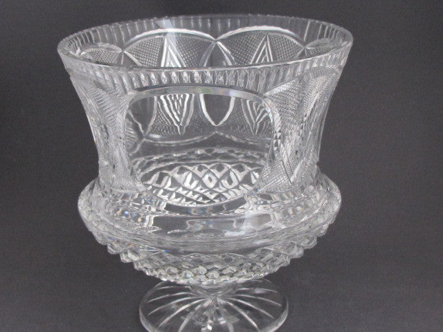 Hand Cut 24 Lead Crystal Large Center Piece Vase With