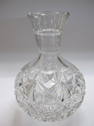 Signed Hawkes ABP Carafe American Brilliant Period hand Cut Glass