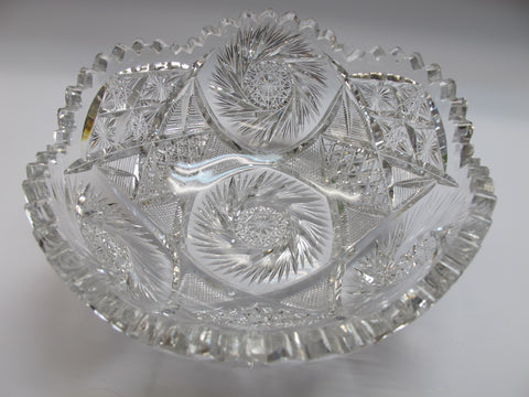 ABP Hand Cut glass bowl BUZZSTAR Antique - O'Rourke crystal awards & gifts abp cut glass