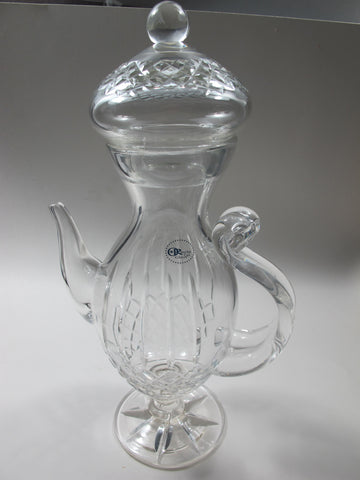 Hand cut glass Coffee pot high hand polished - O'Rourke crystal awards & gifts abp cut glass