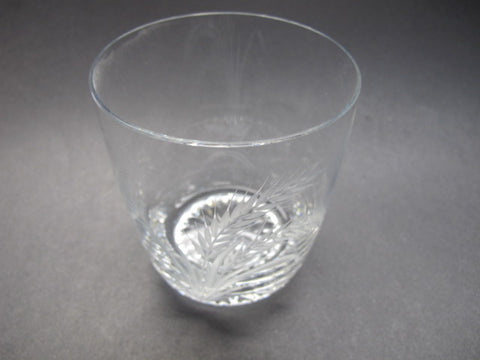 Shay O'Brien Double on rocks glasses hand cut leaves - O'Rourke crystal awards & gifts abp cut glass