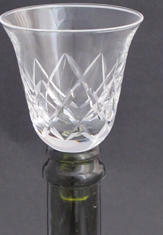 Wine glass  glass taster  stopper  hand cut crystal - O'Rourke crystal awards & gifts abp cut glass