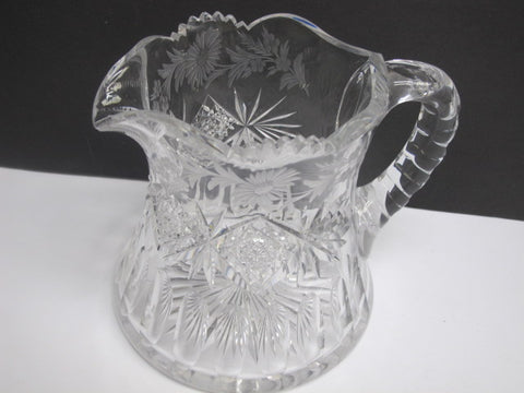 Signed Sinclaire ABP cut glass pitcher - O'Rourke crystal awards & gifts abp cut glass