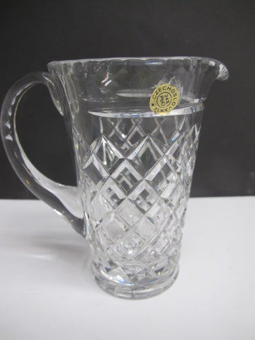Cut glass Pitcher czechoslovakia lead crystal - O'Rourke crystal awards & gifts abp cut glass