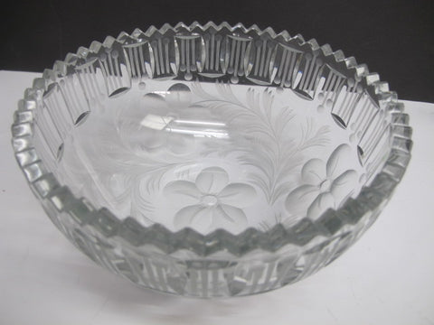 ABP cut glass bowl American brilliant blown blank intaglio - O'Rourke crystal awards & gifts abp cut glass