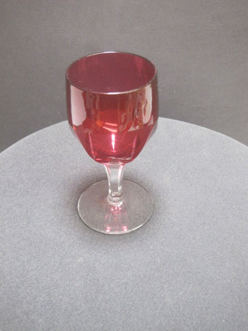 Cranberry Fluted Clear Stemware - O'Rourke crystal awards & gifts abp cut glass
