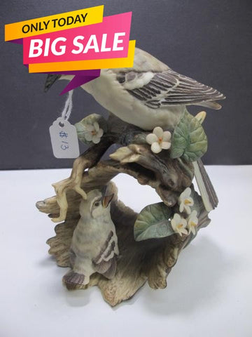 Ceramic bird on limb Homco