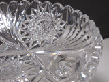 ABP cut glass 3 legged bowl bowl American brilliant vid122