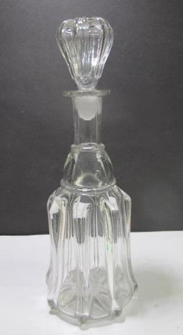 Ribbed Glass Antique Decanter C12