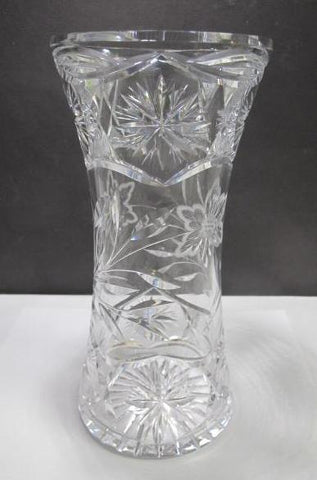 ABP cut glass vase antique C11