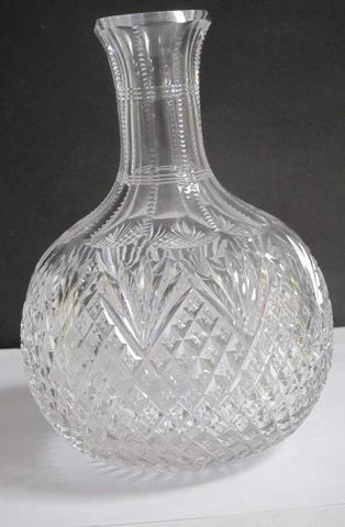 ABP cut glass carafe strawberry diamond fan American brilliant C8