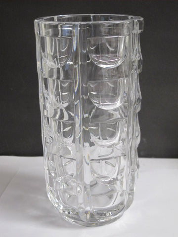 Pressed glass vase Crown C4