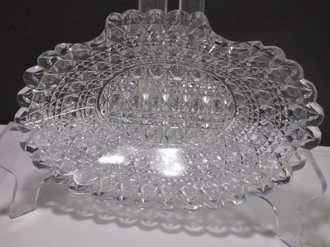 ABP cut glass odd shape dish C21
