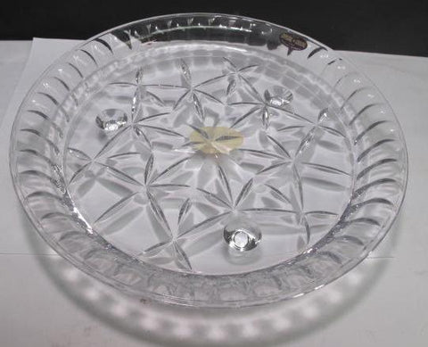 Pie dish Crystal st George c30