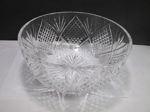 Cut glass bowl Hand blown c31