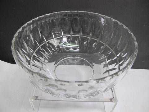 Hand cut glass salad bowl punties preowned