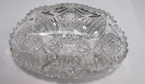 ABP cut glass dish