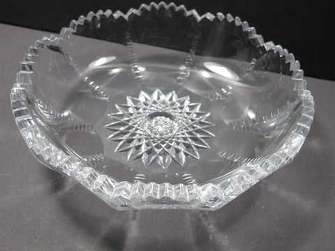ABP cut glass fluted low bowl