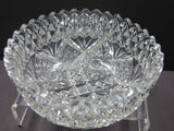 "American Brilliant Period hand Cut Glass Antique 8""bowl ABP"