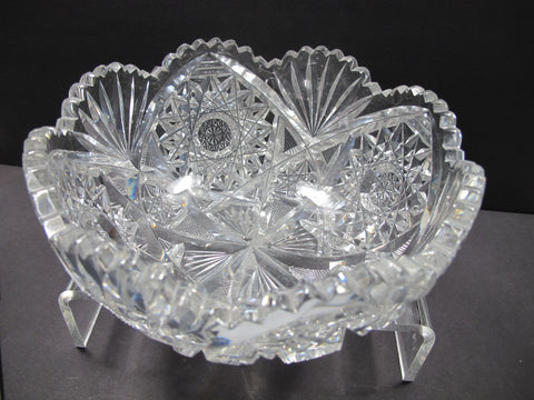 ABP cut glass bowl American brilliant fba