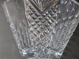 Hand cut and hand polished crystal bowl Octagonal
