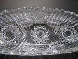ABP Crystal Cut Glass celery signed Libbey vid129