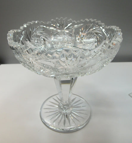 abp cut glass compote