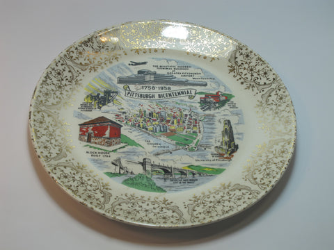 Pittsburgh Bicentennial  plate made in USA 22K