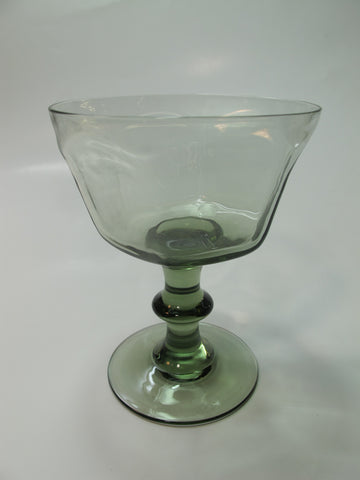 Lenox Green Antique pattern dessert glass lead Crystal Made in USA