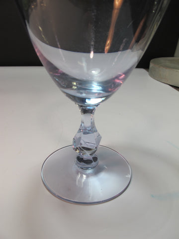 Alexanderite Glass Tiiffin water goblet