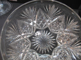 Antique Cut Glass finger bowl American Brilliant period, ABP