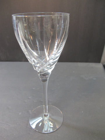 Lenox Cut glass wine Crystal Sea Swirl replacement signed