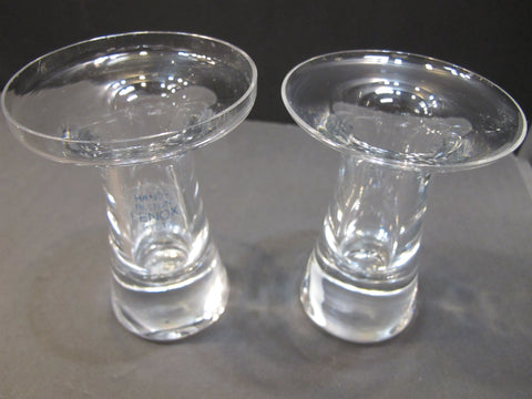 Pair candle sticks Lenox USA , crystal