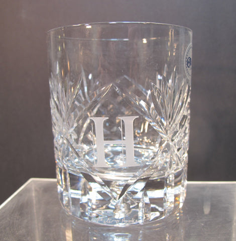 Hand cut DOR custom whiskey glass Double on the rocks ORourke