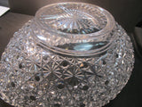 ABP Crystal Cut Glass Oval Bowl Russian pattern