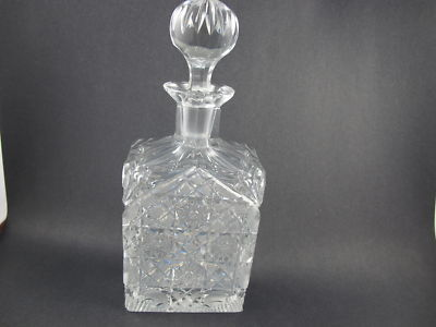 Rectangle cut glass  decanter  crystal - O'Rourke crystal awards & gifts abp cut glass